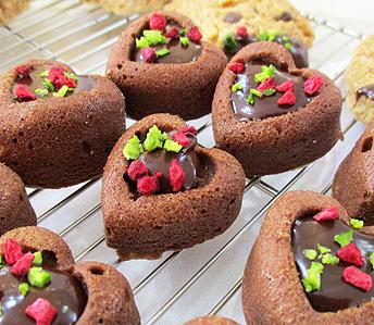 ハートチョコケーキ&チョコとナッツのクッキー