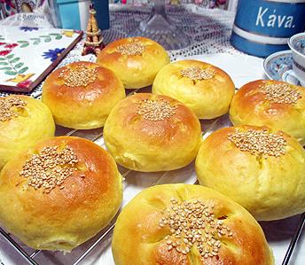 カボチャパン&コーンパン