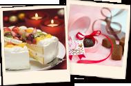 お誕生日、クリスマス、記念日などのケーキ